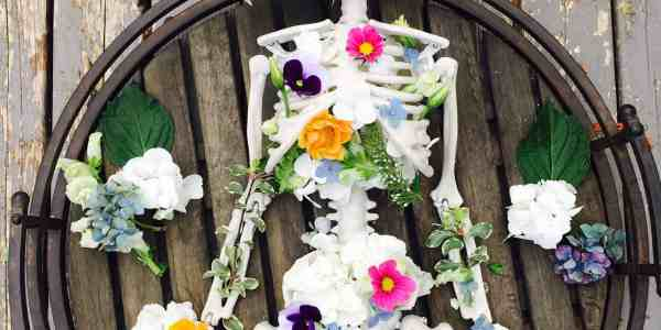 Skeleton Flower Arrangement
