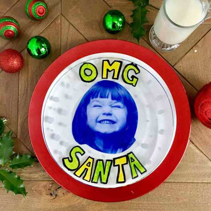 OMG Santa Cookie Plate Tutorial