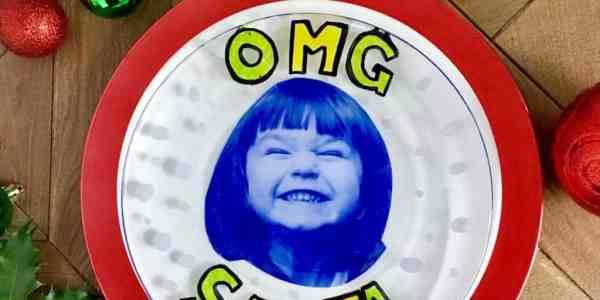 OMG Santa Cookie Plate Tutorial