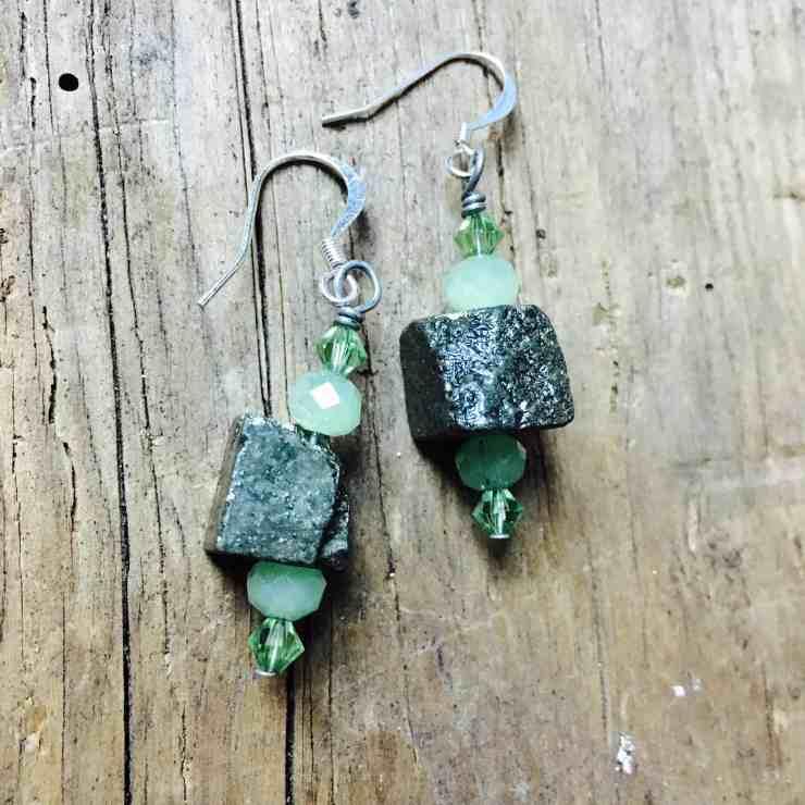 Pyrite Earrings- Make, Win, Buy