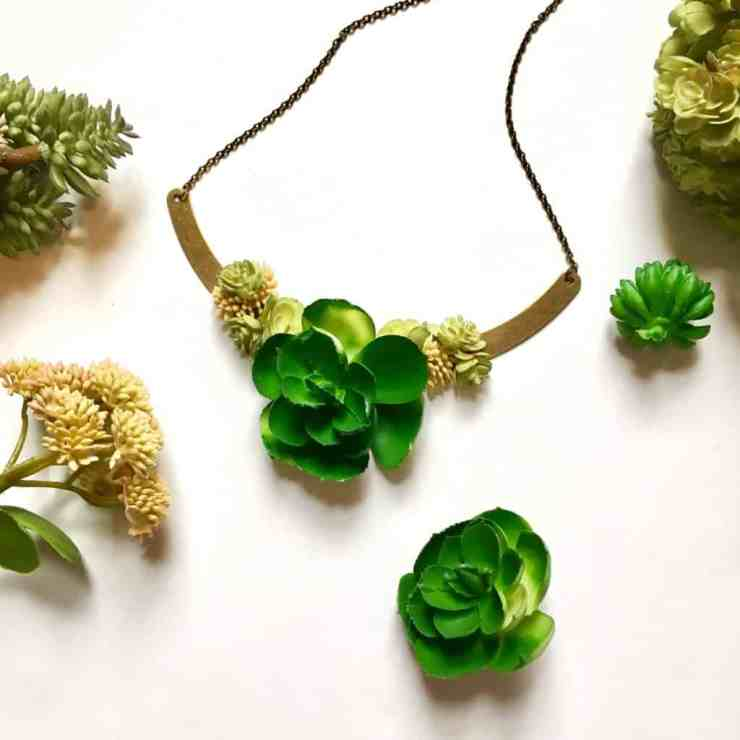 Succulent Necklace Tutorial