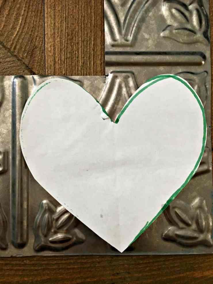 tin heart bunting