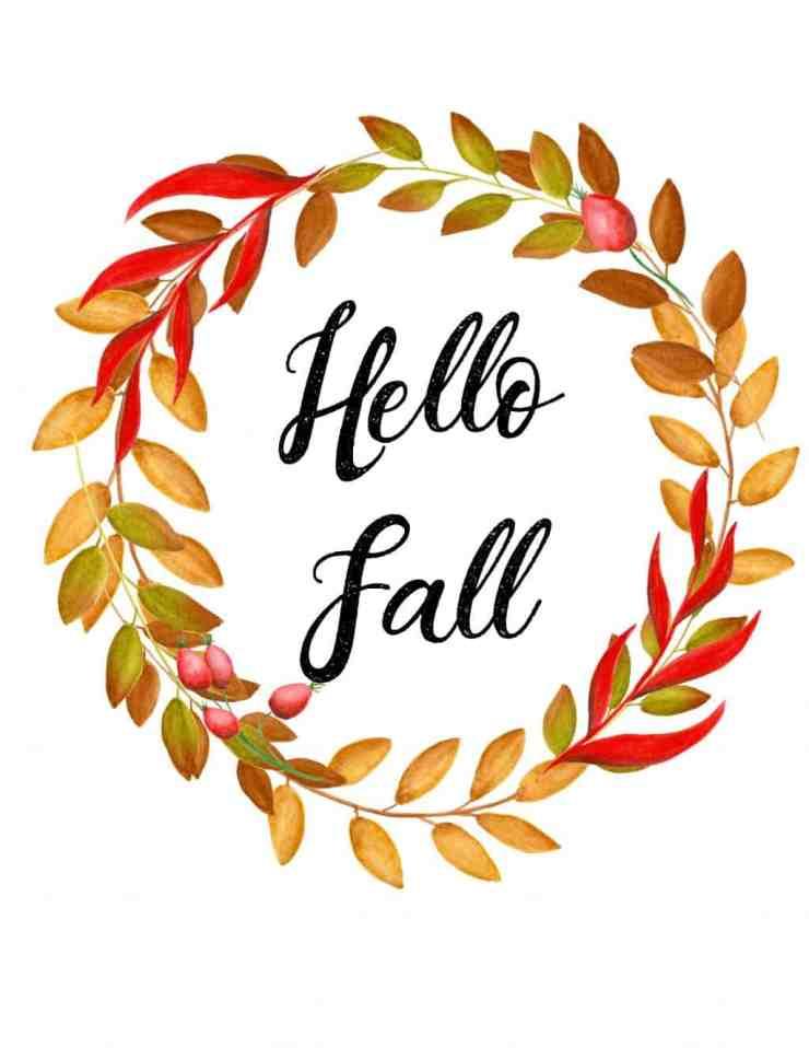 5 Free Autumn Printables