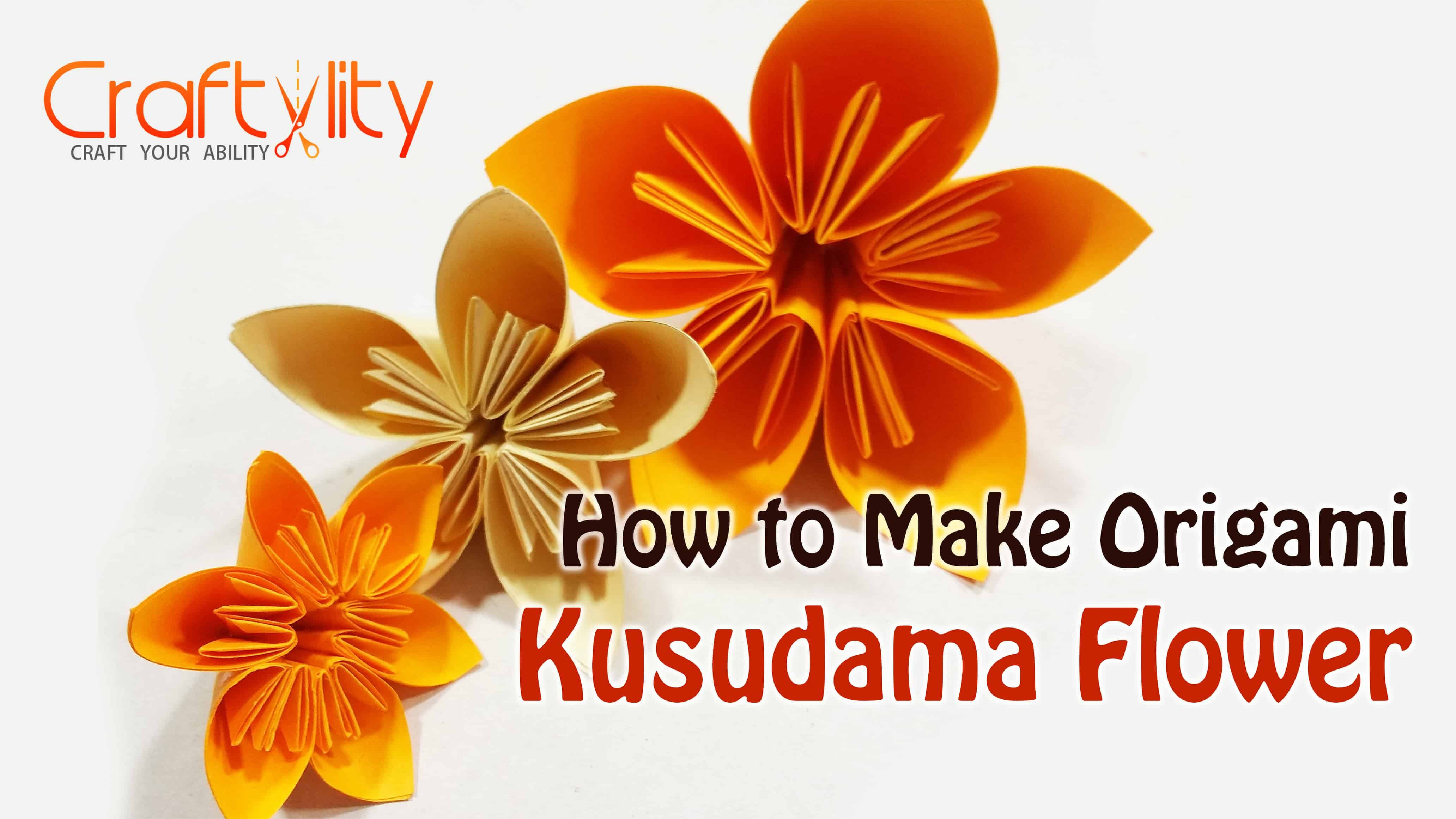 How To Make An Origami Kusudama Flower Craftylity