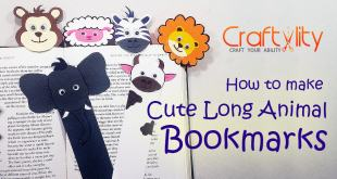 How to make Cute Long Animal Bookmarks