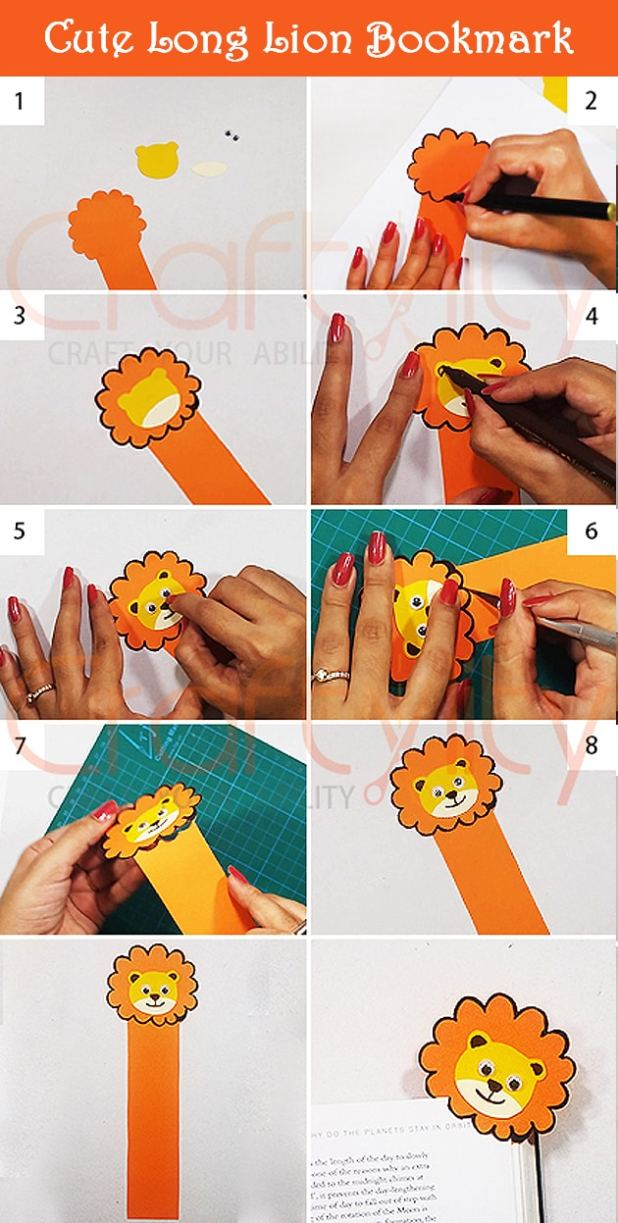 Cute Lion Bookmark