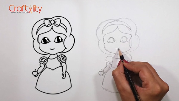 How to draw cute little Snow White - 15