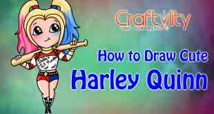 How to draw cute little Harley Quinn
