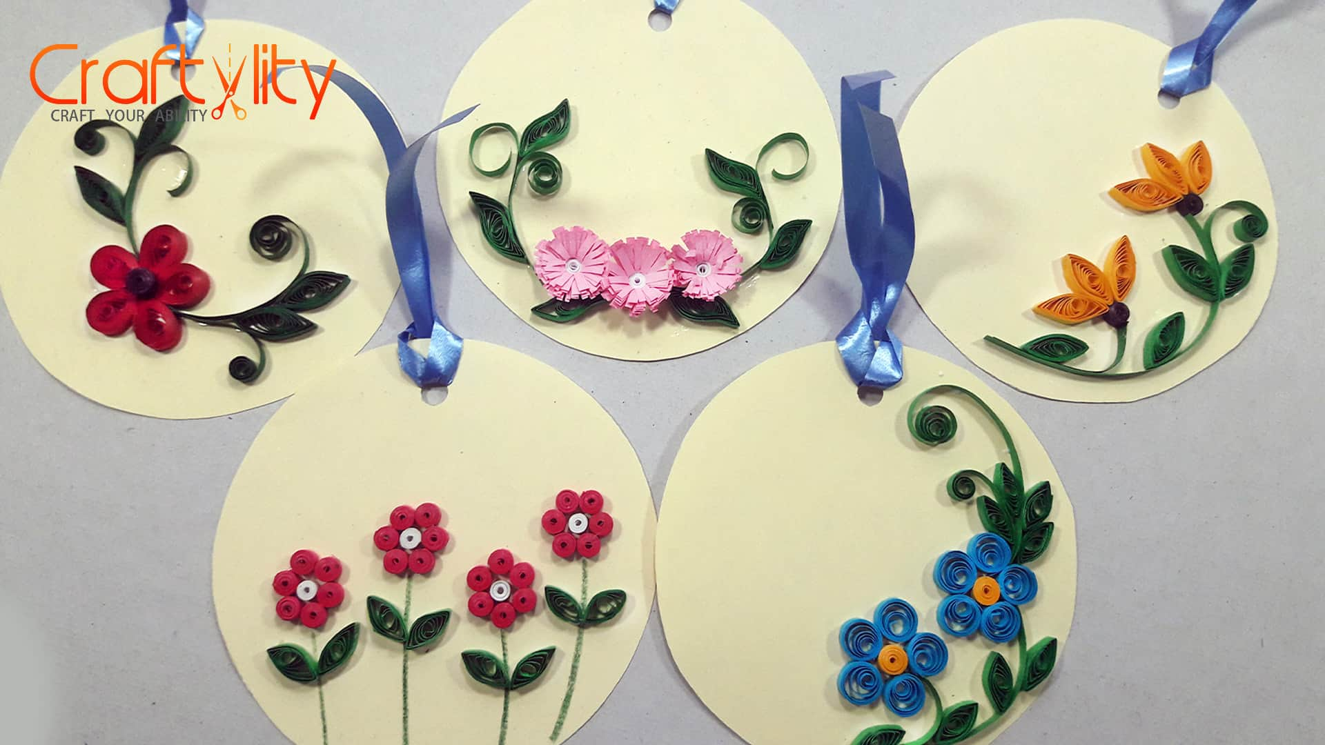 How to make easy and beautiful paper quilling floral tags mightylinksfo