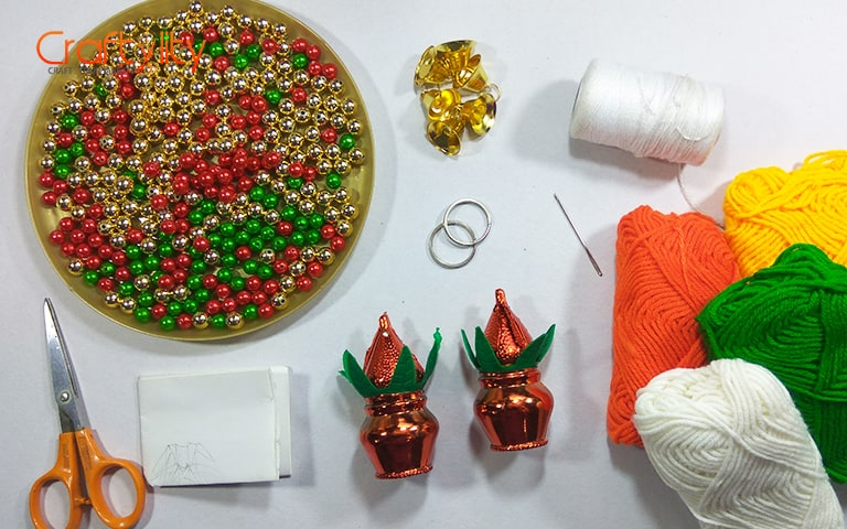 Golden, Red And Green Beads ...