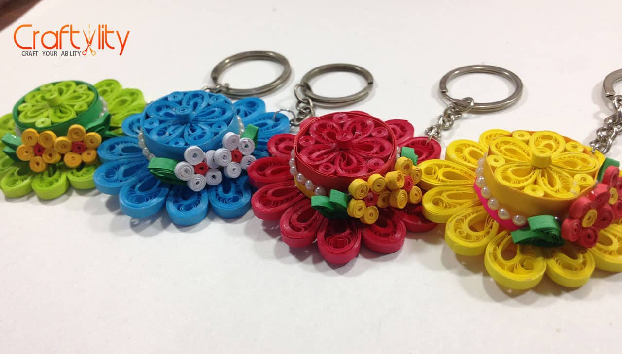 How To Make Quilling Hat Key Chain Craftylity