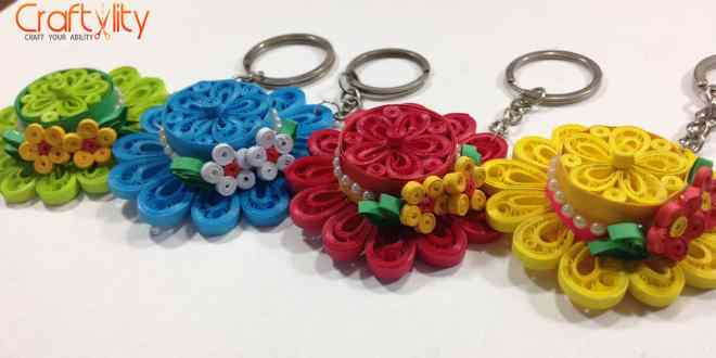 How to make Quilling Hat Key Chain
