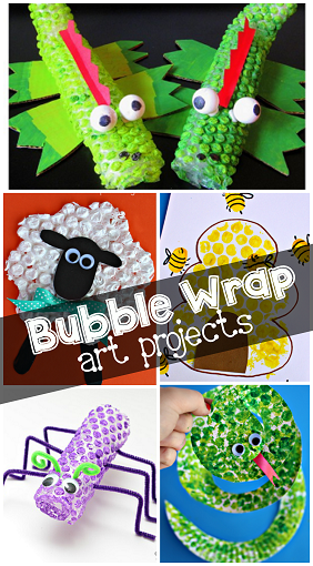 Bubble Wrap Painting Amp Printing Art Projects Crafty Morning