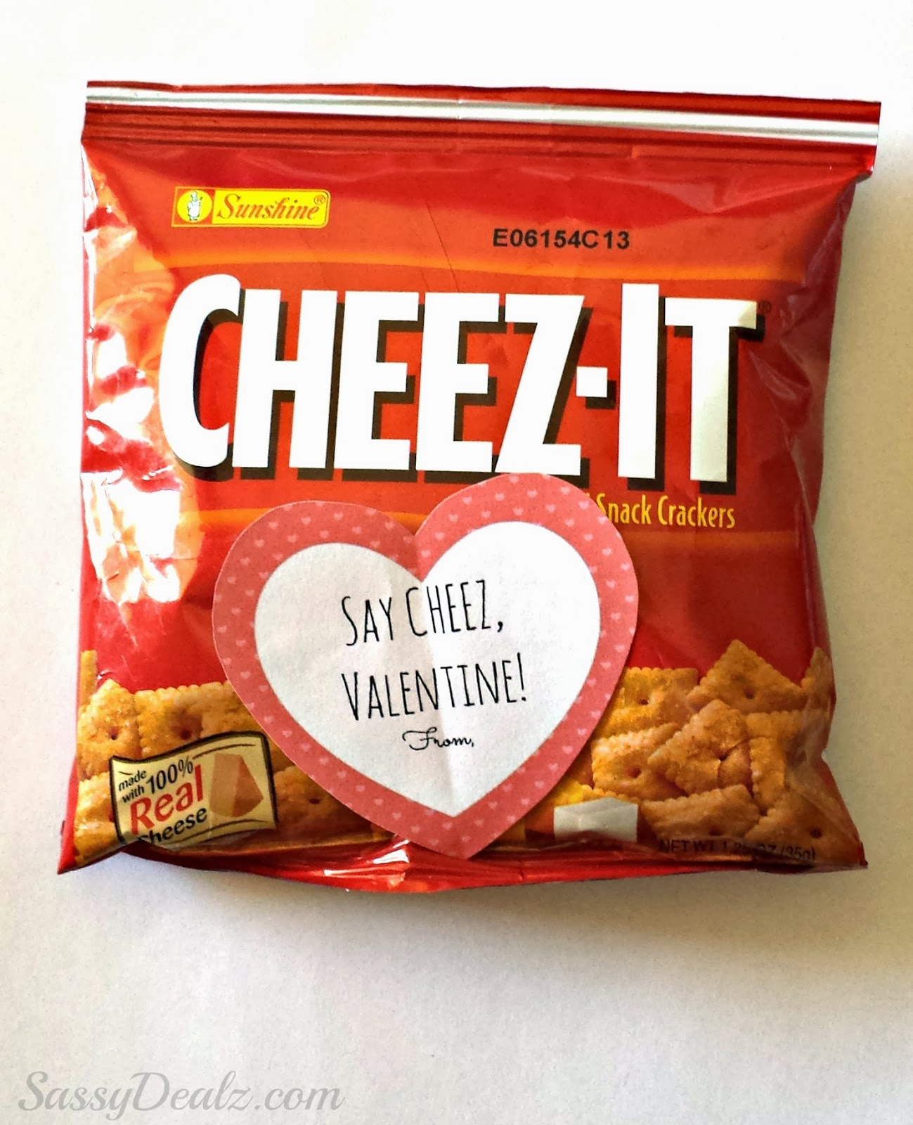 Cheez It Crackers Valentines Day Gift Bag Idea For Kids