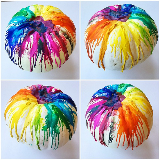 Next Time You Make A Melted Crayon Pumpkin Do It With This Fun Twist Have