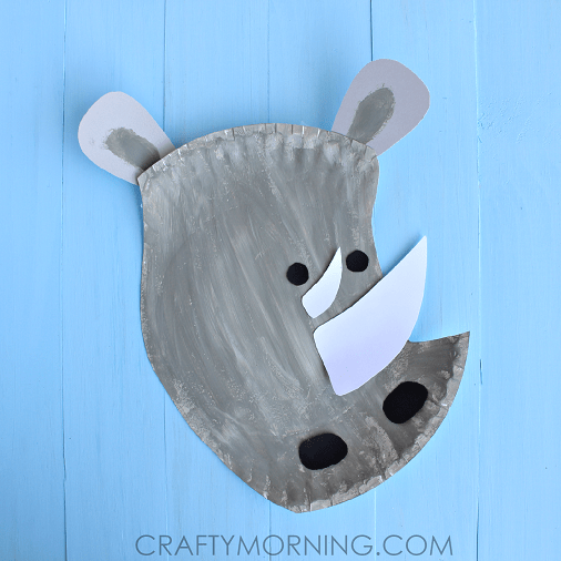 Paper Plate Rhino Craft For Kids Crafty Morning