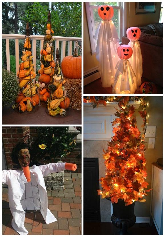 Pumpkin Planter Decorations