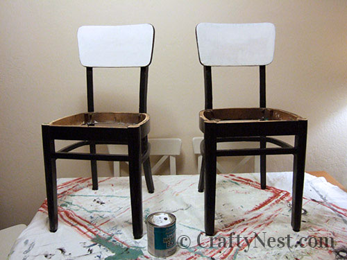 Chair frames painted black, photo