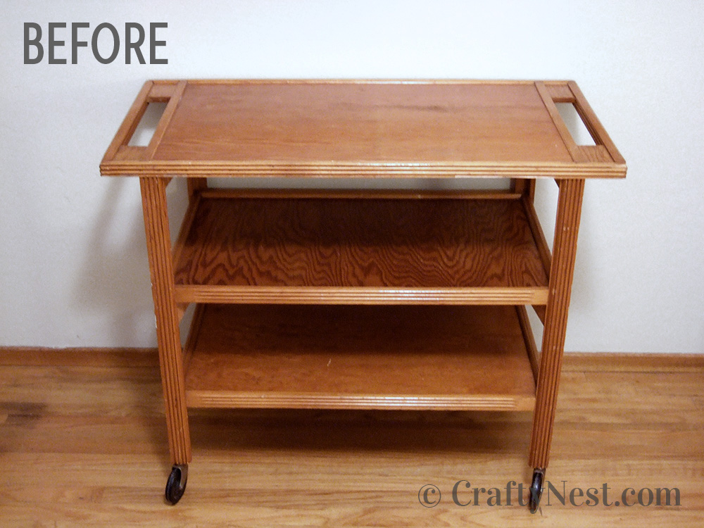 Serving cart, before photo