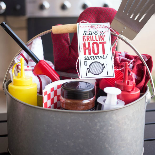 Grilling gift caddy, photo