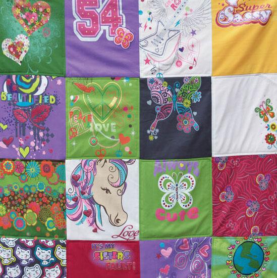 Girls T-shirt quilt, photo