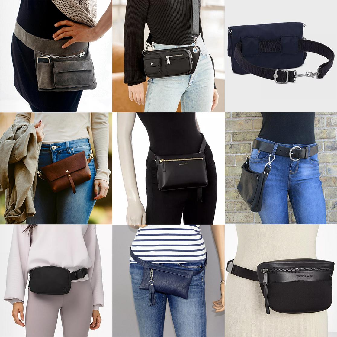 Nine different belt bags, photo