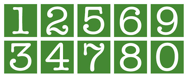 Golf house numbers, photo