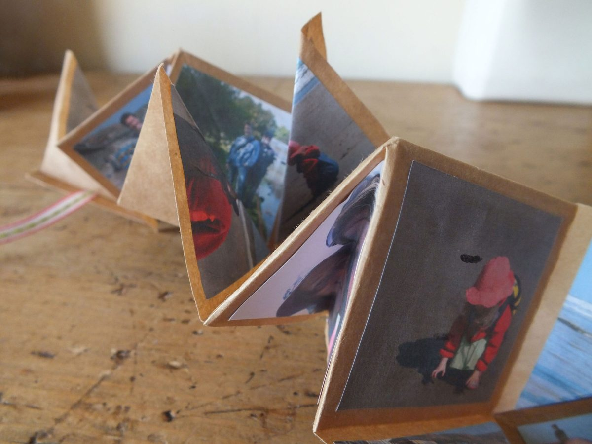 Liz Chesworth's expanded accordion book, photo