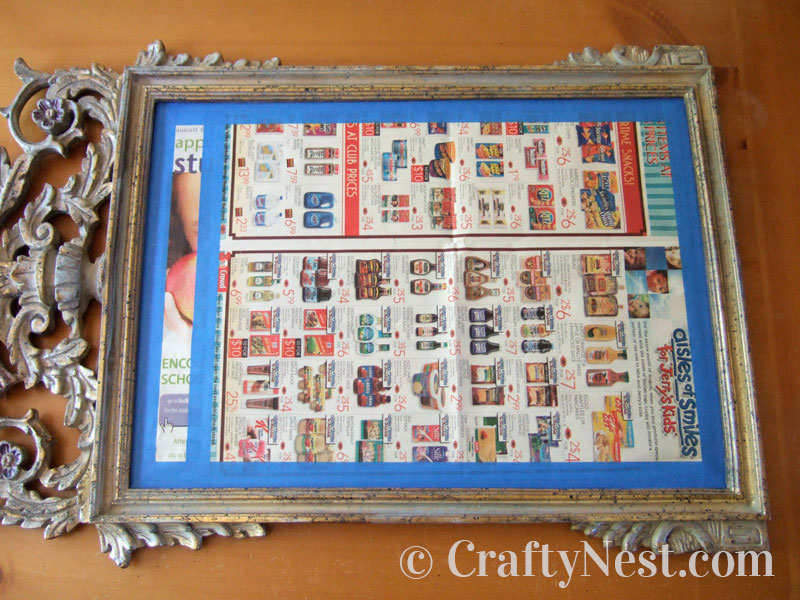 Cover the mirror with newspaper, photo