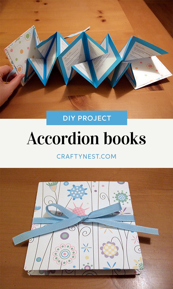 Crafty Nest mini accordion book Pinterest photo