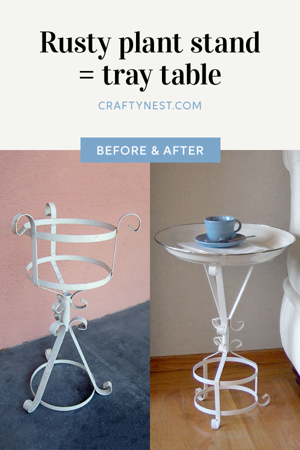 Crafty Nest plant stand tray table Pinterest photo