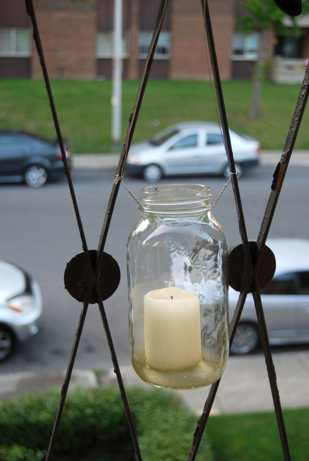 Yannick's hanging jar lantern, photo