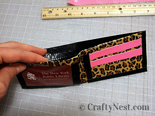Duct tape wallets, step #27, photo