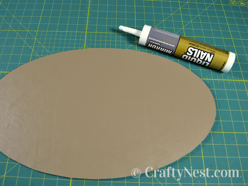 Attach the backing with mirror adhesive, photo
