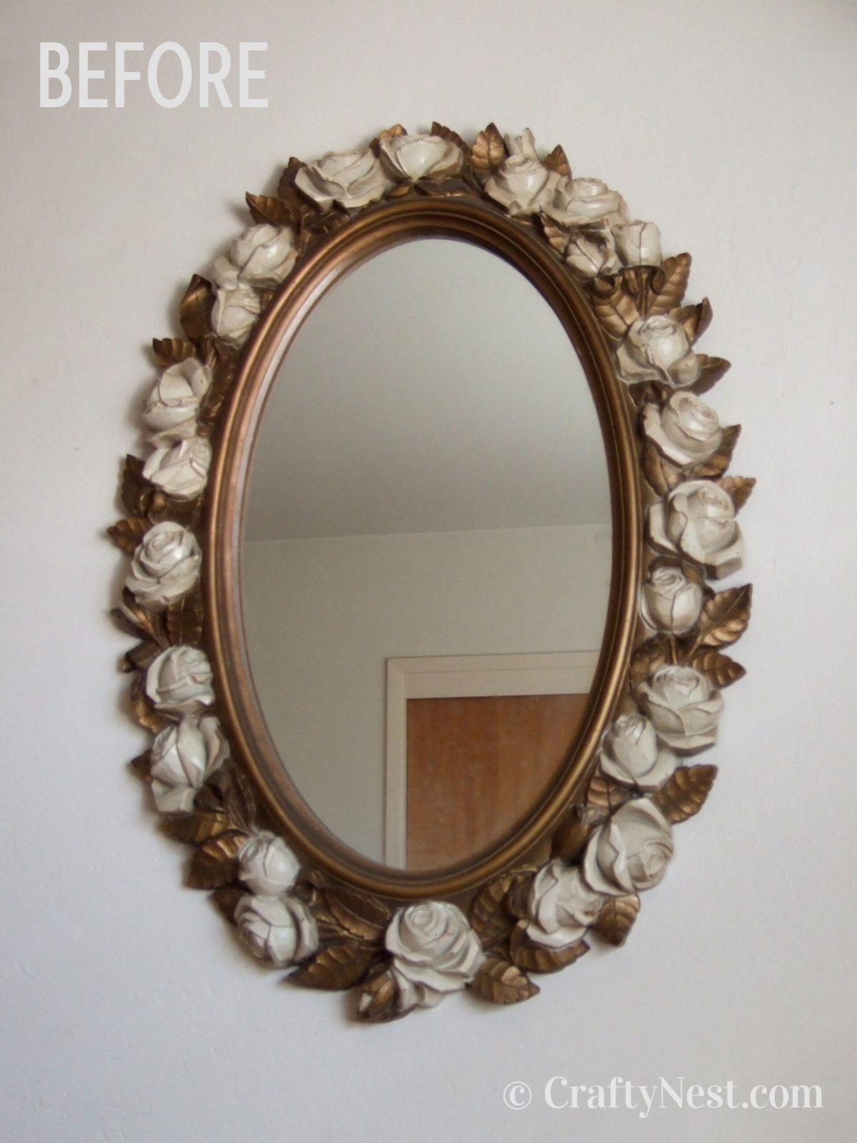 The thrift store plastic mirror, photo