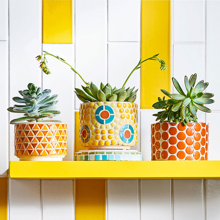 Better Homes & Gardens mosaic flower pots, photo