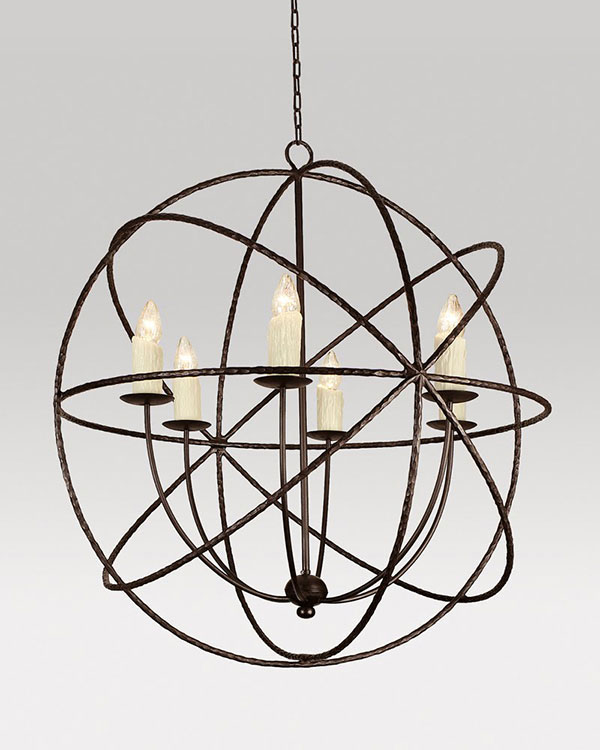 Cassiopeia chandelier from Ironware International, photo