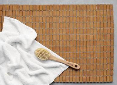 CB2's bamboo bath mat, photo