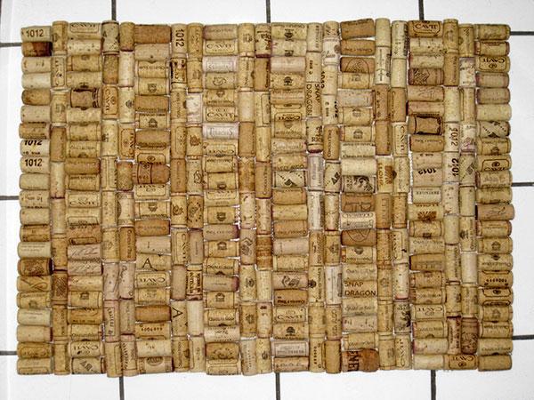 Juliaem's wine cork bath mat, photo