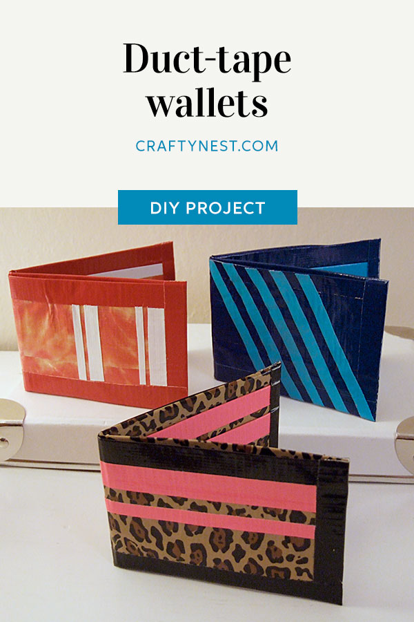 Crafty Nest camp craft duct tape wallets Pinterest image