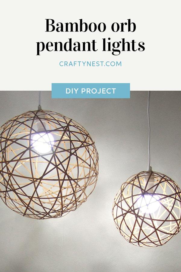Crafty Nest bamboo orb pendant lights Pinterest photo