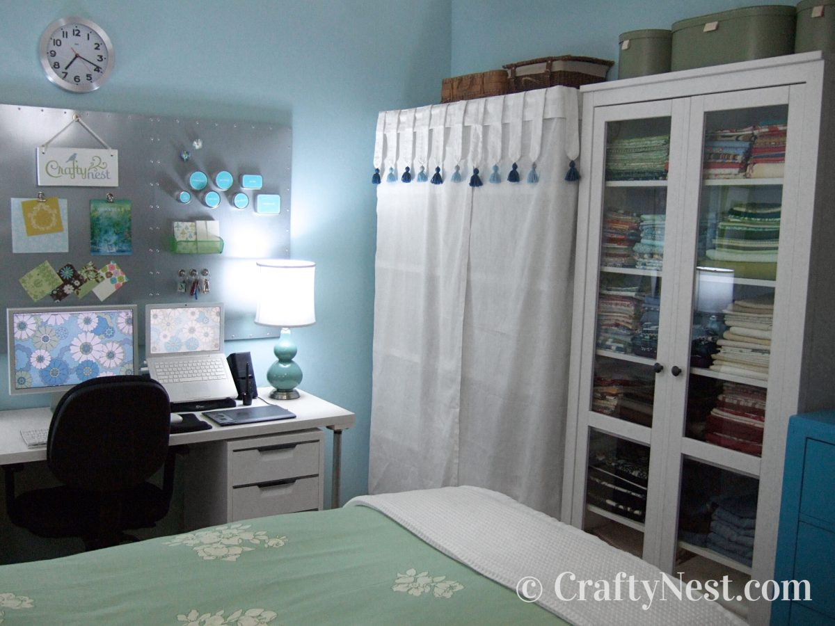 Office/craft/guest room makeover, after photo