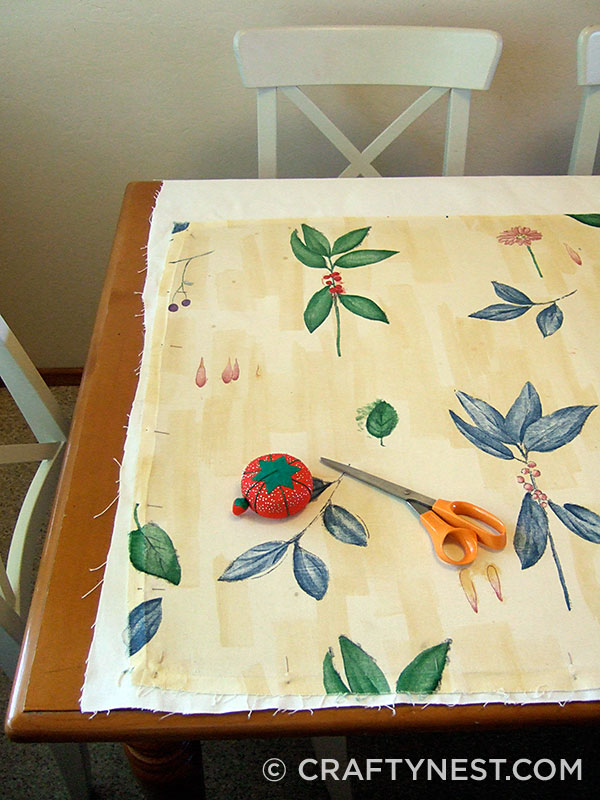 Cut the fabric pieces, photo