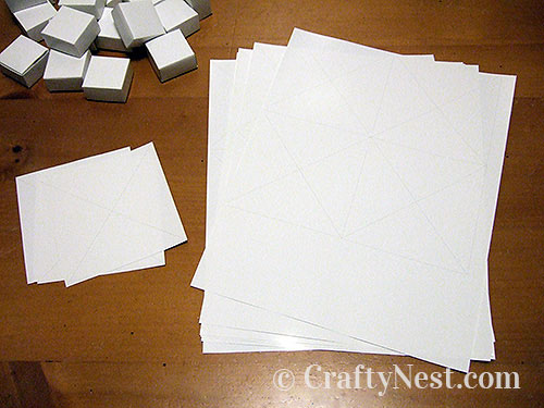 Sheets of paper for boxes, photo