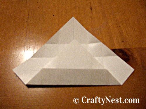 Folding a box, step 2, photo