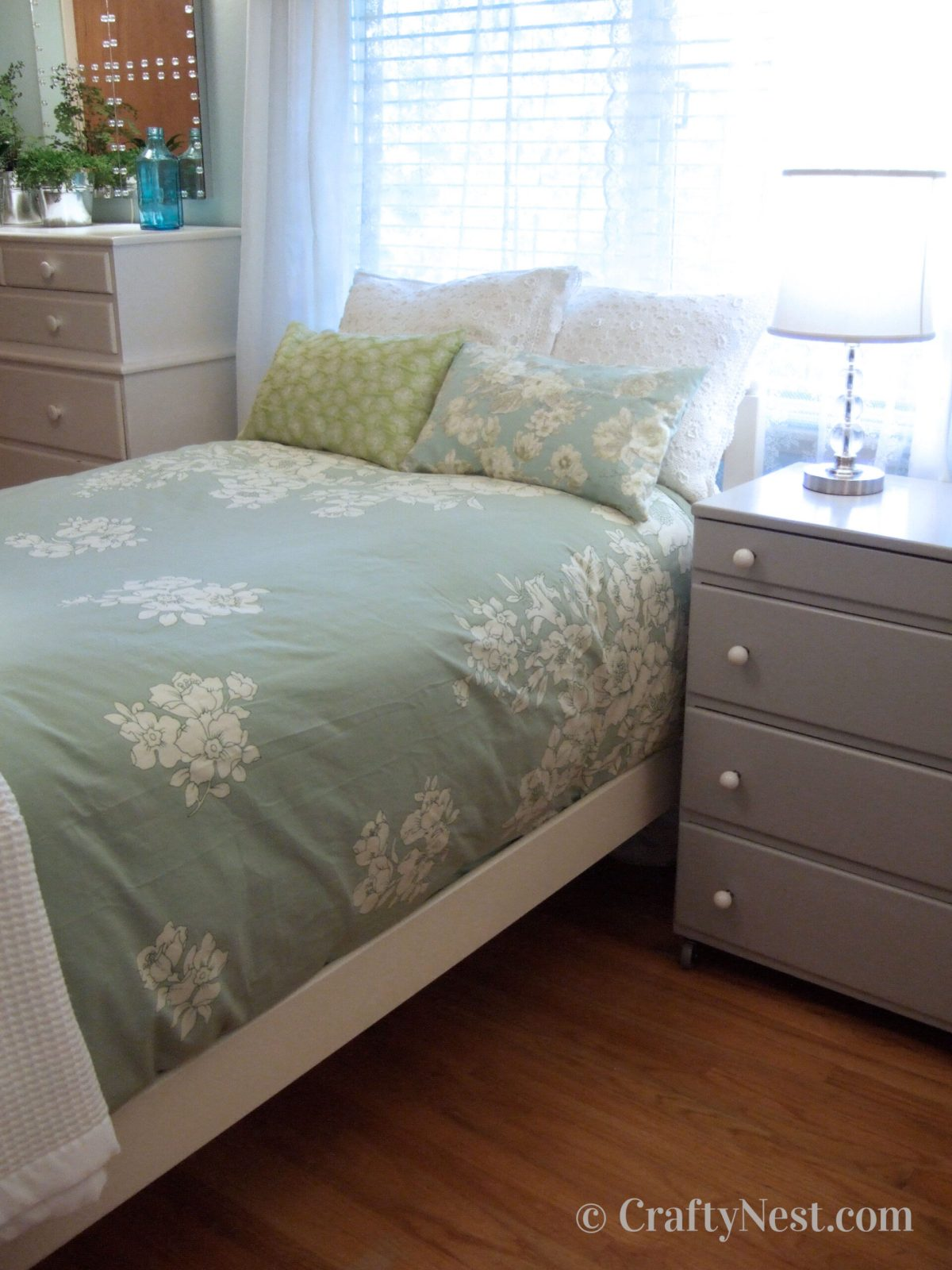 Bed and dresser, after photo