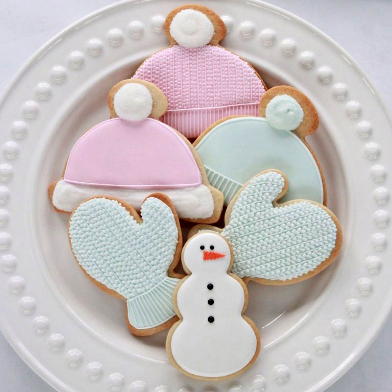 Frosted Christmas sugar cookies, photo