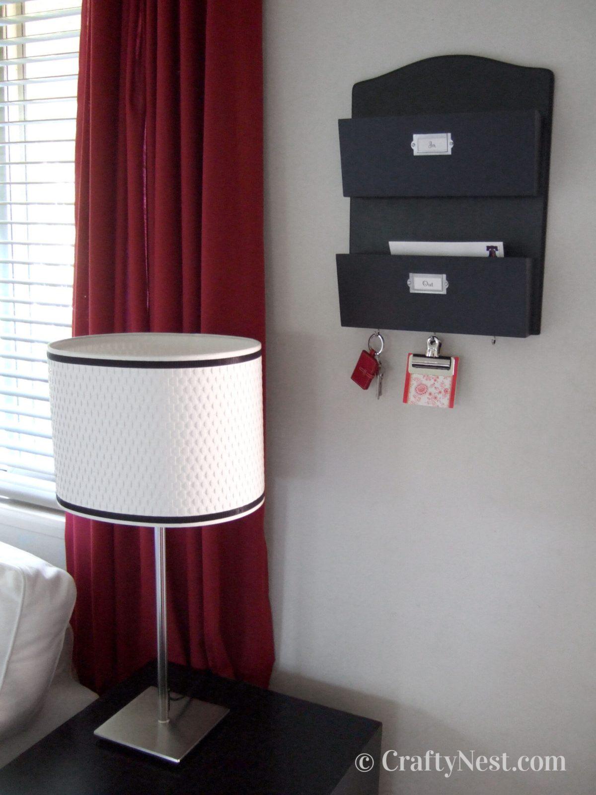 Black letter bin on the wall, photo
