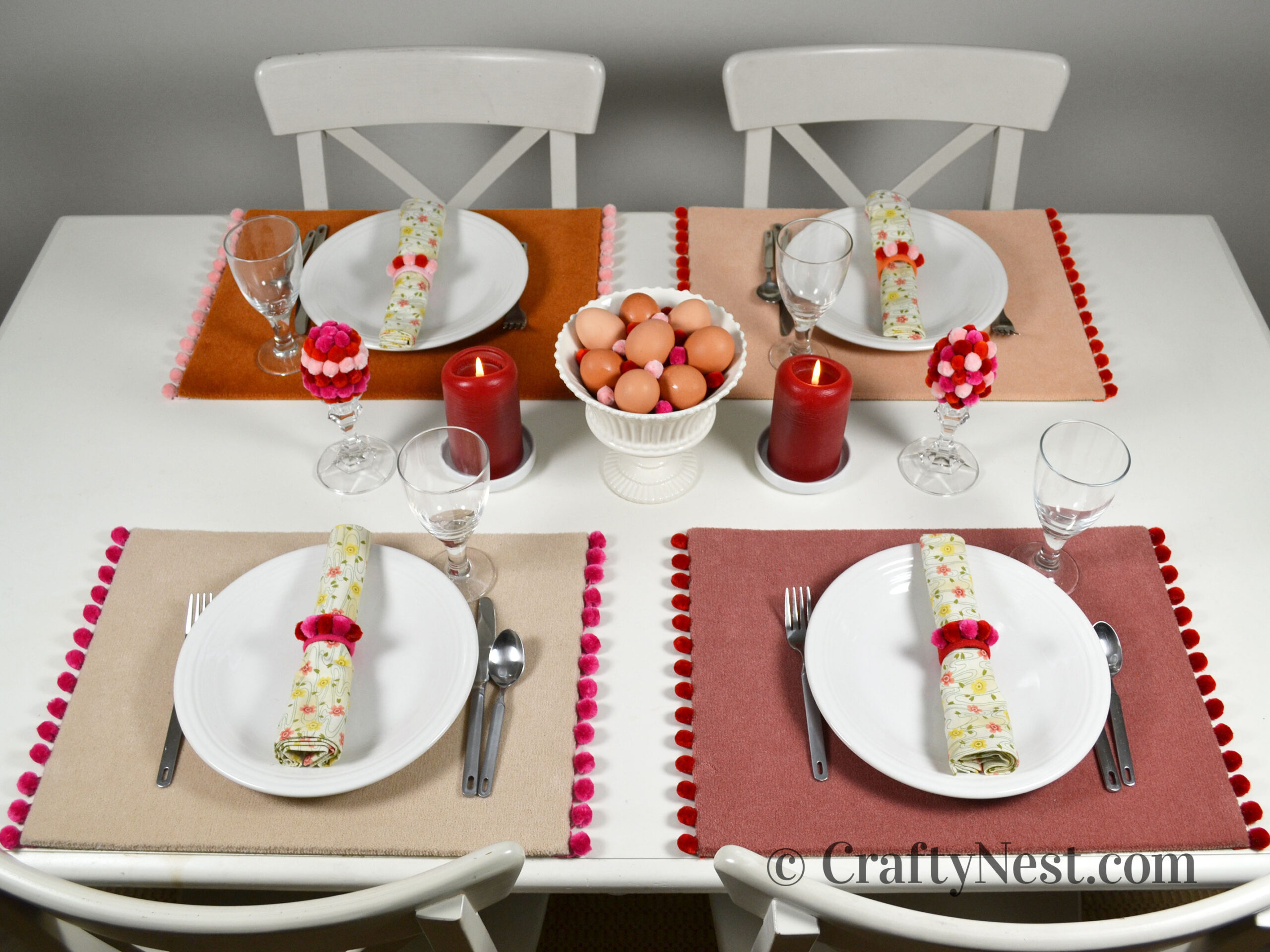 Easter tabletop decor, photo