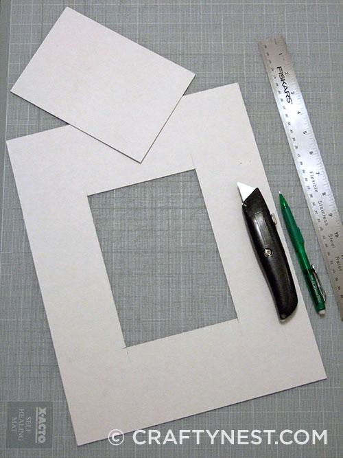 Cut the cardboard, photo